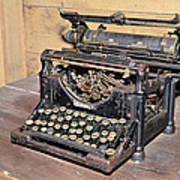 Vintage Typewriter Poster by Susan Leggett