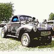 Vintage Willys Gasser Poster by Steve McKinzie