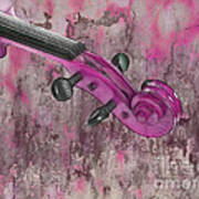 Violinelle - Pink 03b2 Poster by Variance Collections