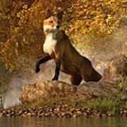 Vixen By The River Poster by Daniel Eskridge