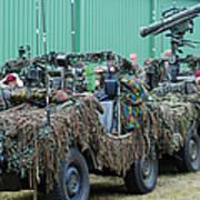Vw Iltis Jeeps Of A Recce Scout Unit Poster by Luc De Jaeger