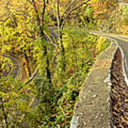W Road In Autumn Poster by Tom and Pat Cory