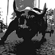 Wall Street Bull Bw3 Poster by Scott Kelley