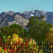 Wasatch Mountains In Autumn Painting Poster by Tracie Kaska