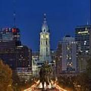 Washington Monument And City Hall Poster by John Greim