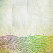 Water Pattern On Old Paper Poster by Setsiri Silapasuwanchai