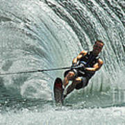Water Skiing Magic Of Water 10 Poster by Bob Christopher