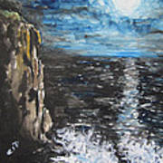 Water Under The Moonligt Poster by Cheryl Pettigrew