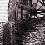 Water Wheel Old Mill Cherokee North Carolina  Poster by Susanne Van Hulst