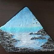Water With Rocks Poster by Monika Shepherdson