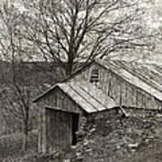 Weathered Hillside Barn Poster by John Stephens