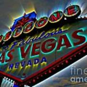 Welcome To Las Vegas Poster by Kevin Moore