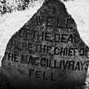 well of the dead and clan macgillivray memorial stone on Culloden moor battlefield site highlands sc Poster by Joe Fox