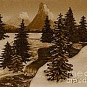 When It Snowed In The Mountains Poster by Barbara Griffin