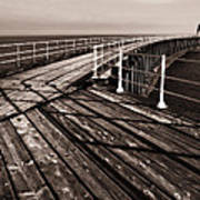 Whitby Pier  Poster by Stephen  Wakefield