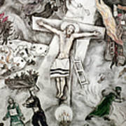 White Crucifixion Poster by Granger