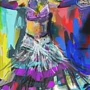 Wild Belly Dancer Poster by Barbara Kelley