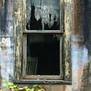 Window In Old Wall Poster by Jill Battaglia
