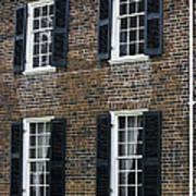 Windows At The Clover Hill Tavern Appomattox Virginia Poster by Teresa Mucha