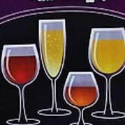 Wine Poster Poster by Marsha Heiken