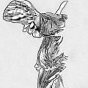Winged Victory Of Samothrace Poster by Manolis Tsantakis