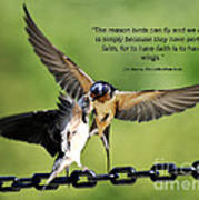 Wings Of Faith Poster by Diane E Berry