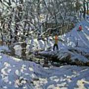 Winter Stream Poster by Andrew Macara