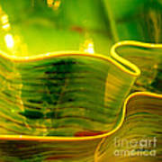 Yellow And Green Poster by Artist and Photographer Laura Wrede