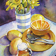 Yellow Still Life Poster by Susan Herbst