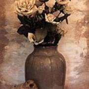 Yellow Tinted Roses Poster by Marsha Heiken