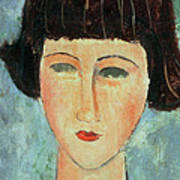 Young Brunette Poster by Modigliani