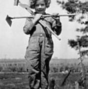 Young Gardener Poster by Henry Guttmann