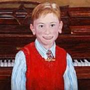 Young Piano Student Poster by Phyllis Barrett