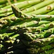 Yummy Asparagus Poster by Connie Cooper-Edwards