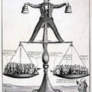 Zachary Taylor, Political Cartoon Poster by Everett