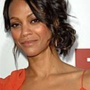 Zoe Saldana At Arrivals For Death At A Poster by Everett