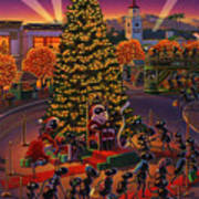 Visiting Santa Anta  Poster by Robin Moline