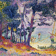 A Pine Grove Poster by Henri-Edmond Cross
