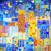 Abstract City Poster by Setsiri Silapasuwanchai