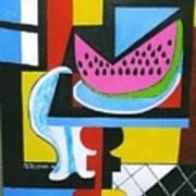 Abstract Watermelon Poster by Nicholas Martori