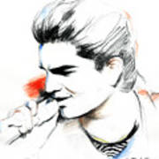 Adam Lambert Poster by Lin Petershagen