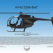 Ah-6j Little Bird Poster by Arthur Eggers