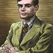 Alan Turing, British Mathematician Poster by Bill Sanderson