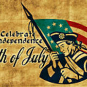 American Revolution Soldier General Poster by Aloysius Patrimonio
