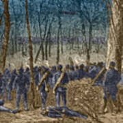 Battle Of The Wilderness, 1864 Poster by Photo Researchers