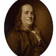 Benjamin Franklin Poster by War Is Hell Store