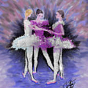 Dancing In A Circle Poster by Cynthia Sorensen