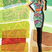 Fashion Illustration Poster by Ramneek Narang