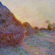 Haystacks Poster by Claude Monet