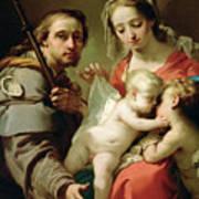 Madonna And Child Poster by Gaetano Gandolfi